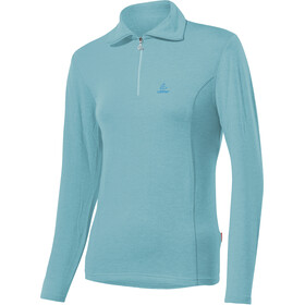 Löffler Basic Transtex Sweat-shirt Zip avec col Femme, angel blue